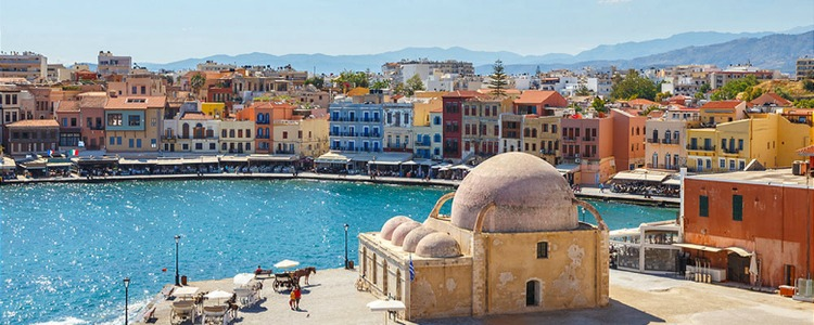 chania crete greece running 2