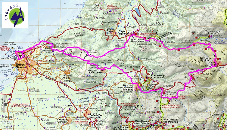 NAXOS TRAIL RACE 30.5 map